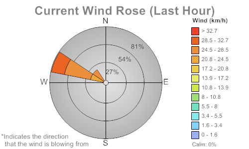 Wind Rose of last hour